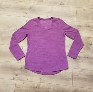 Tek Gear Fleece Long Sleeve Top Purple {Small}